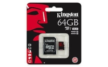 Muistikortti Kingston 64GB MICROSDXC UHS-I