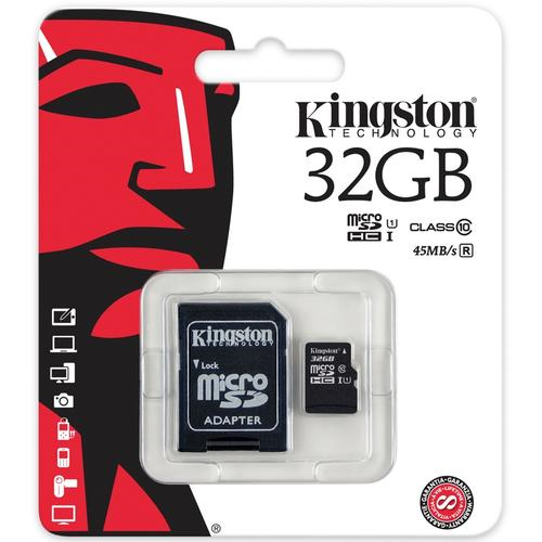 Muistikortti Kingston 32GB MICROSDHC CL 10