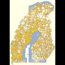 Pohjolan Kelkkareittikartta