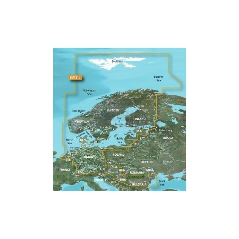 GARMIN BLUECHART G3 VISION HD, VEU721L POHJOIS EUROOPPA